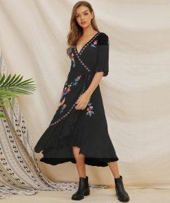 Hippie langes Kleid Winter Zigeuner Hippie
